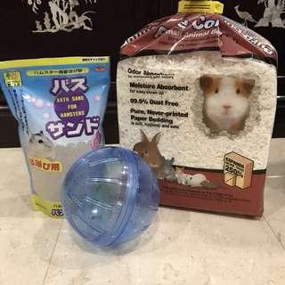 Hamster sand bedding ball