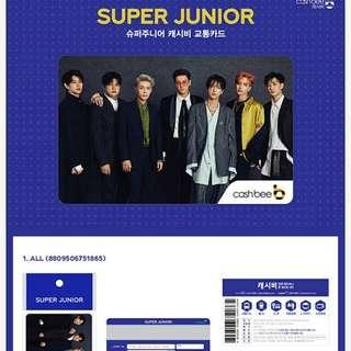 Super Junior韓國cash bee交通卡 八達通