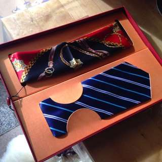 Silk Necktie and tie
