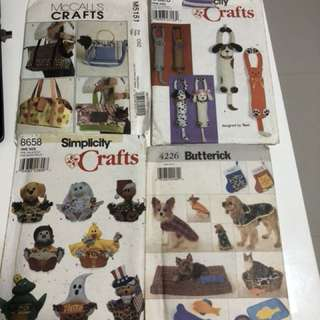 4 craft patterns to go at $12 by mail