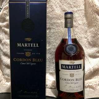 martell cordon bleu cognac 1000ml 馬爹利 藍帶 1L