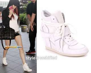 🚚 Ash ⚪️ bowie wedge trainers