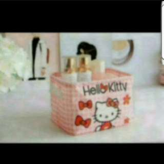 In Stock Hello Kitty Desktop Storage Container size is 20 ×14 ×14cm