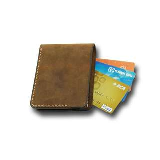 leather wallet , handcraft