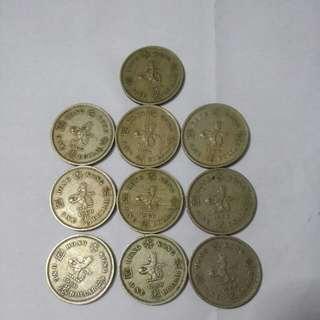 1960 年香港一元(十個)