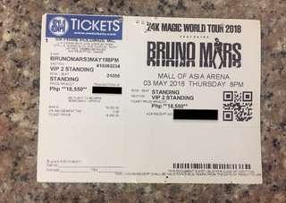 May 03, 2018 (1) Bruno Mars VIP 2 Standing Ticket