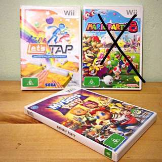 Wii games- Just tap and Sims party