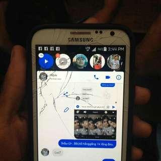 Samsung galaxy note II  Issue may basag sa screen and scratches , pero di nakaka apekto sa performance 99%smooth  kahit test to sawa pa sir ,  yung scratches di kita kasi may case  2gb ram , 16 gb rom  ,