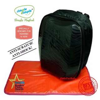 Simple Dimple Shield Diaper Bag (Black)