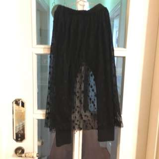 Legging with lace dress ( size 130)