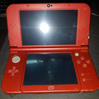 S> Nintendo New 3DS XL Red with 15 Games