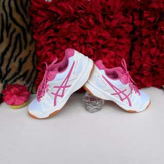 ASICS Ladies' Pink White Shoes Trainers Sneakers - ALMOST NEW