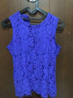 Laces blue top