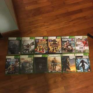 Xbox 360 games (see description for prices)