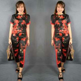 Floral Terno Set (Tops+Pants)