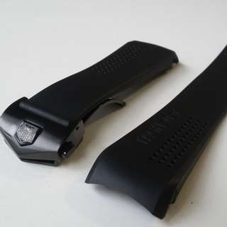 NEW 20mm & 22mm HIGH GRADE RUBBER STRAP WITH STAINLESS DEPLOYMENT CLASP FOR TAG HUER CARRERA