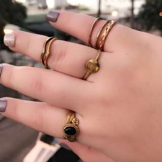 Authentic Brass earrings and rings
