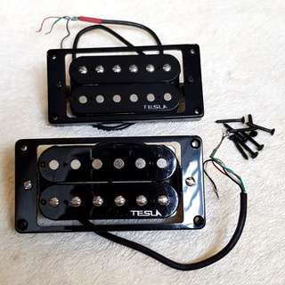 Tesla Plasma 7 Neck & Bridge Pickups,  Ready to Install