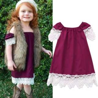 Baby Girl Flower Lace Dress