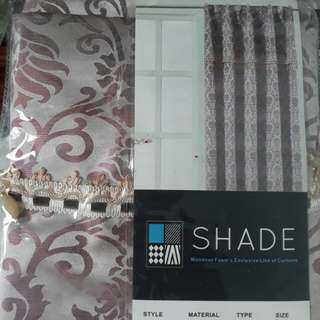 Curtains with valance.Printed design