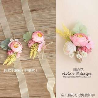 Wedding Handmade Grooms Corsage (brooch)