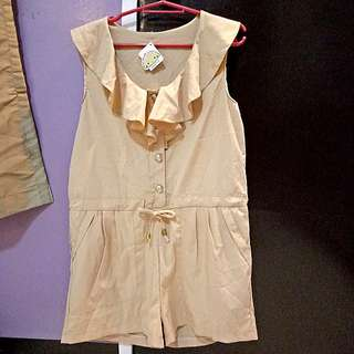 Beige romper -still with tag