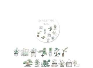 水彩植物貼子 膠紙 日記 相冊 DIY