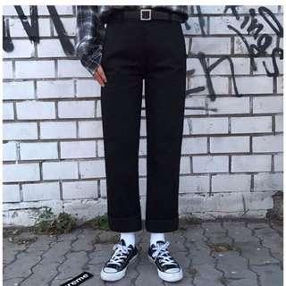 直筒 韓系黑褲