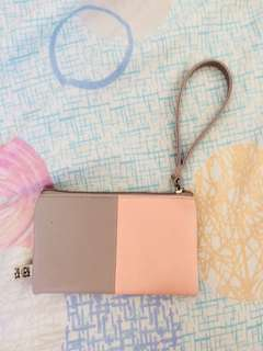 Egg gray and pink wallet