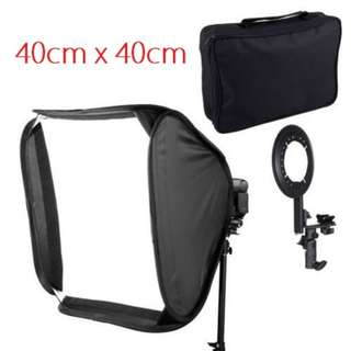 Pxel SB1F 40X40cm  16 inch 40cm Flash Softbox Reflector For Speedlight