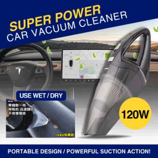 *120W Super Power Car Vacuum Cleaner / 12Volt / Strong / Portable / Wet and Dry Amphibious