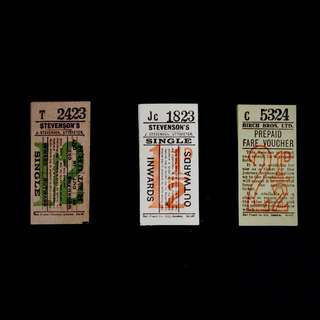 Vintage Bus Tickets Ephemera (15pcs)