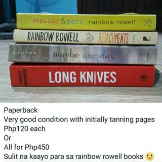 FANGIRL, ATTACHMENTS, MAYBE ONE DAY, LONG KNIVES