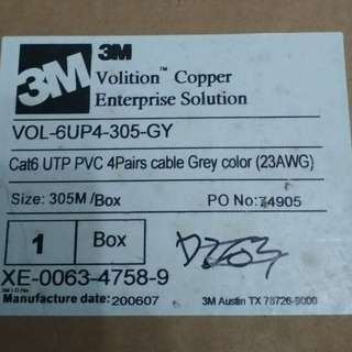 3M cat6 network cable