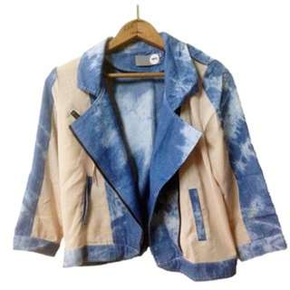 Acid Wash Soft Denim Jacket Blazer