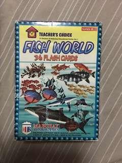 Fish world 36 flash cards