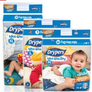 CARTON SALE Drypers diapers