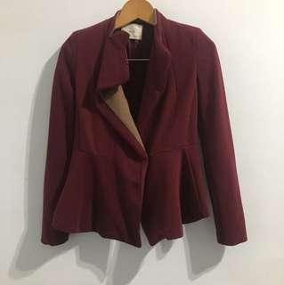 韓製 酒紅色外套
