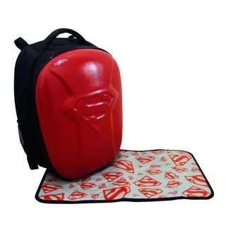 Simple Dimple Superman Bag Medium (Red)