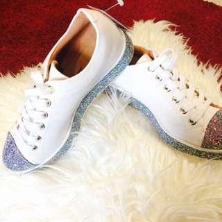 Vizzano white shoes with glitter sole