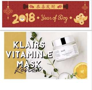 Cny sale Klairs vitamin e mask