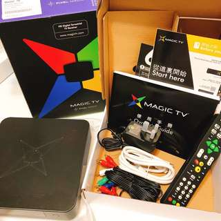 Magic tv MTV 3300D 連盒+ 全新配件 如圖