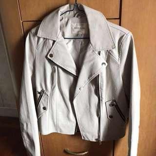 River Island 白色皮褸 (仿皮)leather Jacket / Coat  100% new