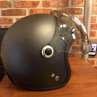 騎士工廠🔹新品🔸GP-5 GP5泡泡鏡安全帽 復古帽-消光鐵灰#319-送帽袋