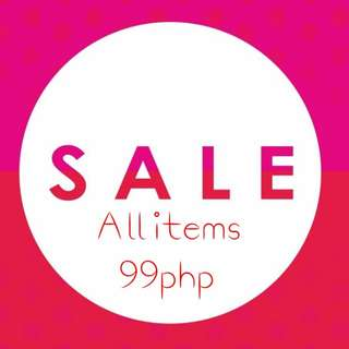 SALE! SALE! SALE!  All items for 99php each