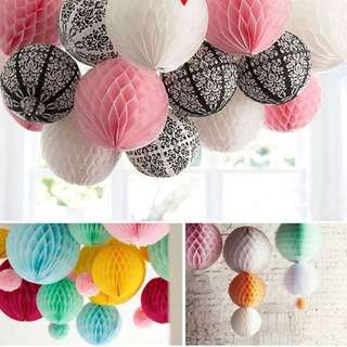 Wedding: White Honeycomb ball paper lantern