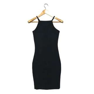 FOREVER 21 Halter Ribbed Bodycon Dress