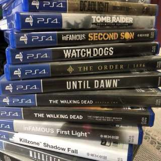 Used PS4 games fire sale (all have been taken up)