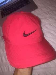 Nike hat red dri fit