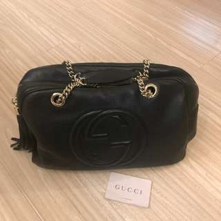 GUCCI BLACK bag GUCCI 黑色手袋